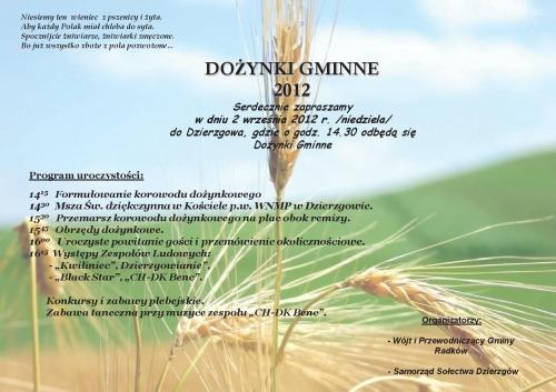 Do  Ynki Gminne   Dzierzg  W 2012